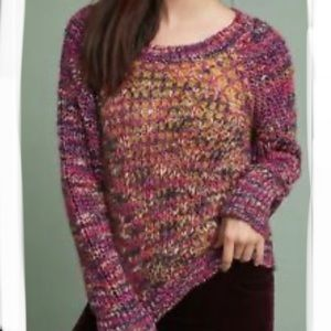 ANTHROPOLOGIE MOTH HILLWALK Chunky Knit Sweater